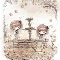 Fountain girl ghosts
