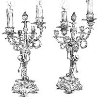 Candlestick with Hanging